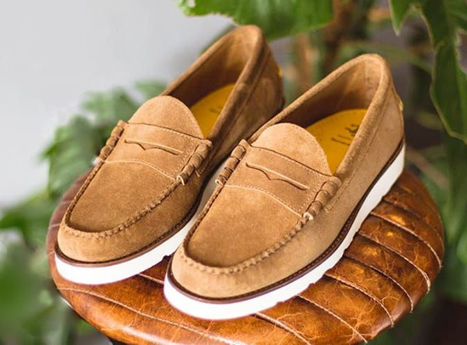 GH Bass suede loafer