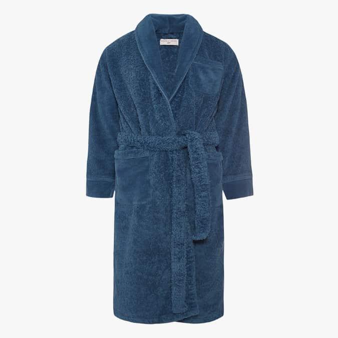 DR NO TOWELING ROBE 007 Peignoir en éponge bleu moyen
