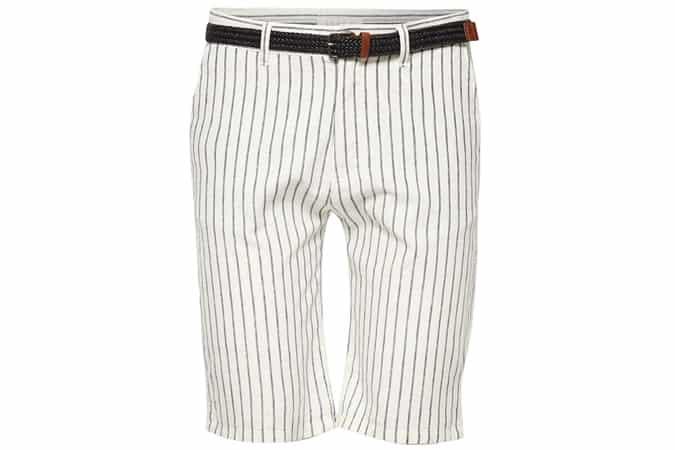 Blended linen: striped shorts