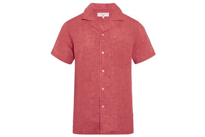 CLIQUEZ POUR ZOOM THUNDERBALL SHIRT 007 Cardinal Capri Collar Shirt