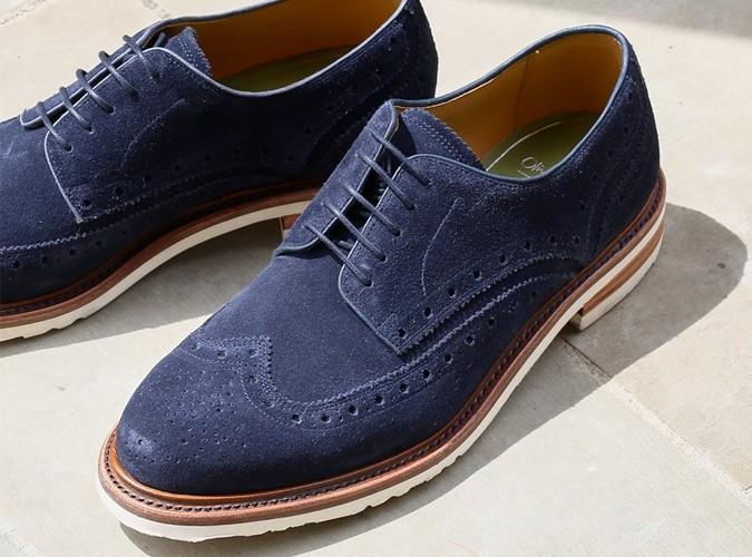 Chaussures brogues à semelle contrastée