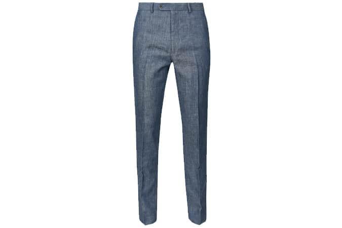 Pantalon M&S COLLECTION Slim Fit Linen Miracle