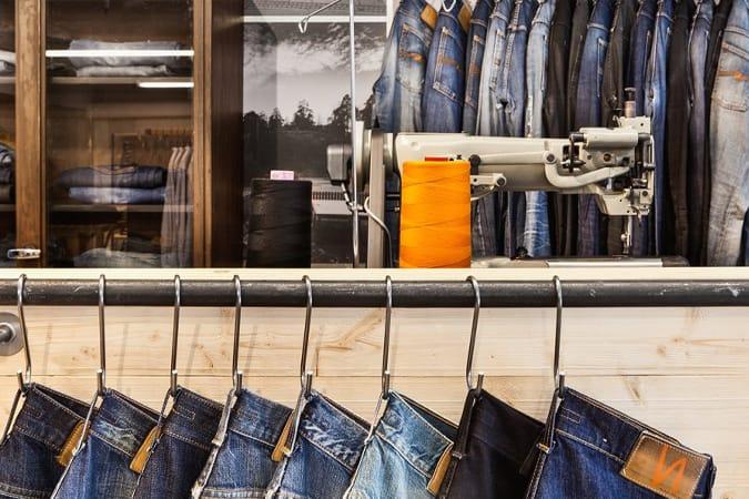 Atelier de réparation de jeans Nudie