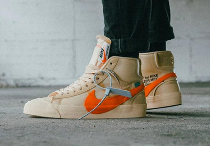 Blanc cassé x Nike Blazer