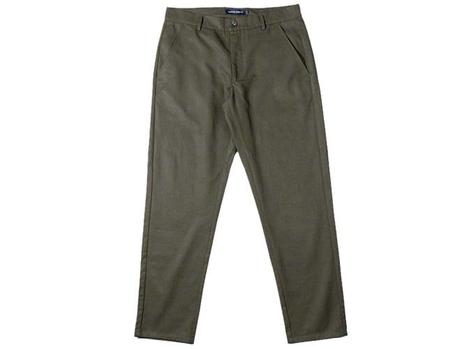 Pantalon Tencel Japonais Vert Nord Indigène