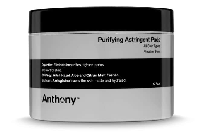 ANTHONY PURIFYING ASTRINGENT TONER PADS X60