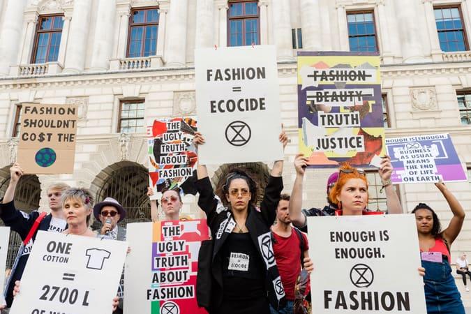 Protestation contre la rébellion d'extinction