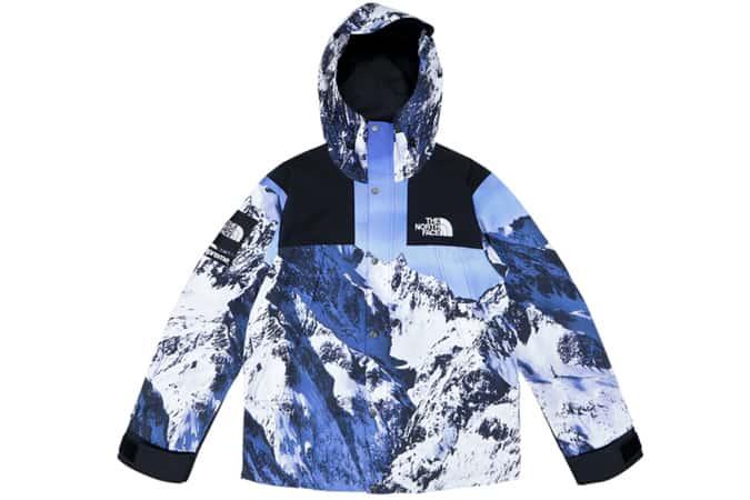 Parka Supreme The North Face Mountain Bleu / Blanc