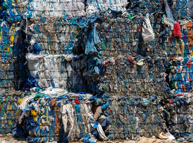 Clothes in landfill