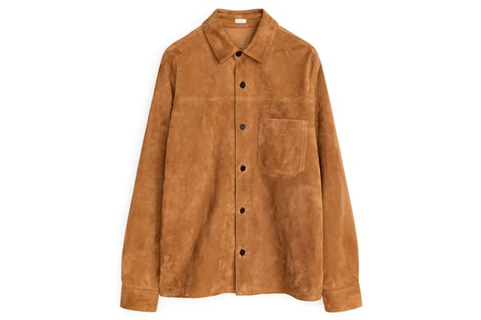Suede Leather Overshirt
