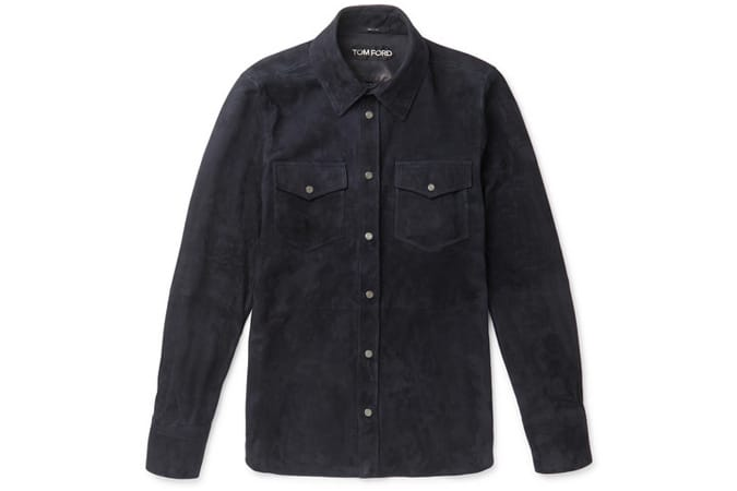 TOM FORD Slim-Fit Suede Shirt