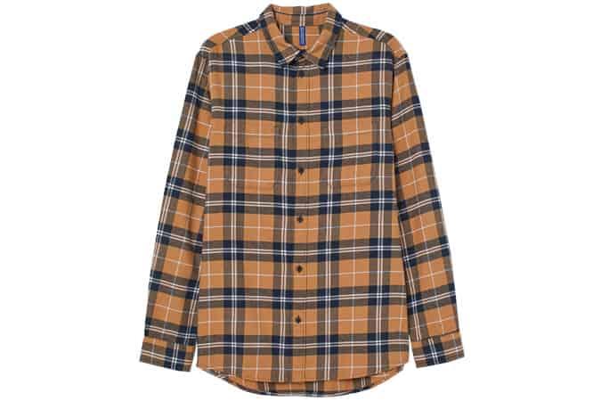 chemise en flanelle de coton h & m