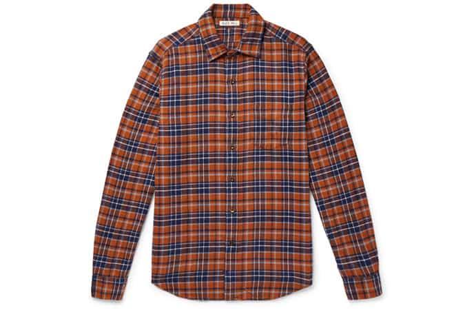 Chemise en flanelle de coton à carreaux ALEX MILL