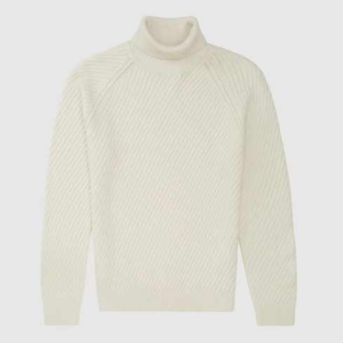 LEITH CHUNKY RUBNED ROLLNECK PULL