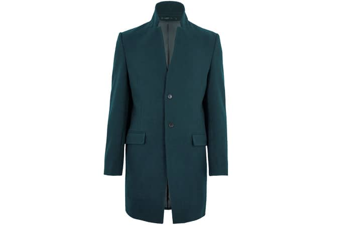 AUTOGRAPH Wool Notched Collar Overcoat