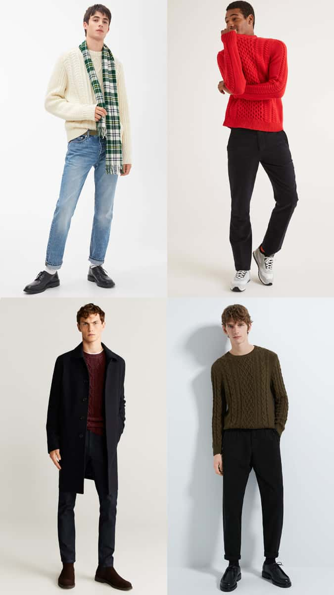 How to wear a cable knit jumper