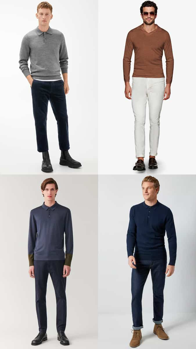 How to wear a knitted polo shirt