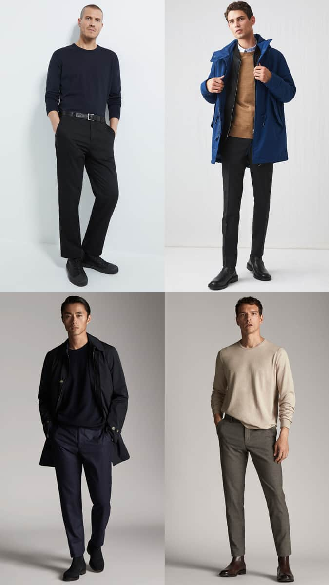 How to wear a merino crew neck jumper