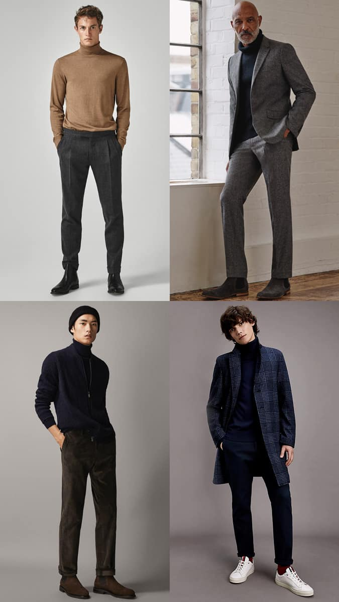 How to wear a roll neck