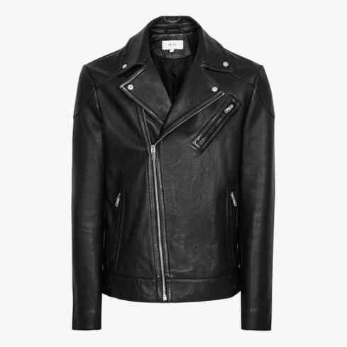 reiss MIMO LEATHER BIKER JACKET