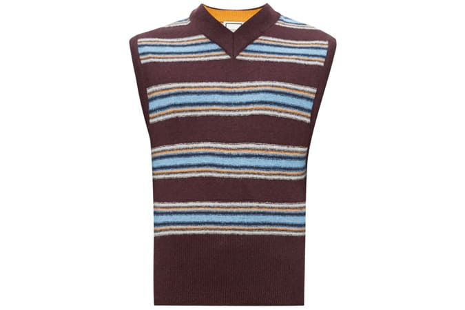 WOOYOUNGMI Stripe-intarsia sweater vest