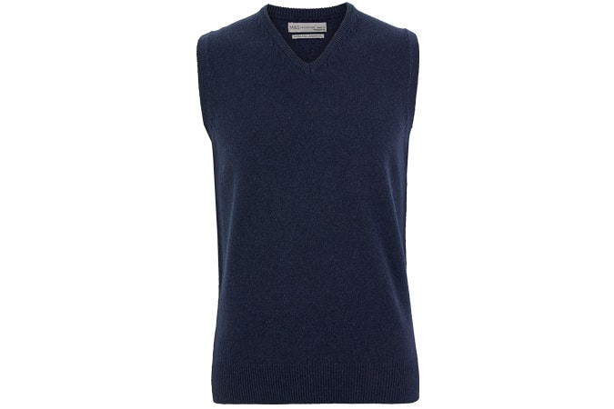 M&S COLLECTION Pure Lambswool Sleeveless V-Neck Jumper