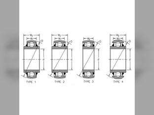 Bearing sn DAC30552RK for John Deere Yetter Bearing