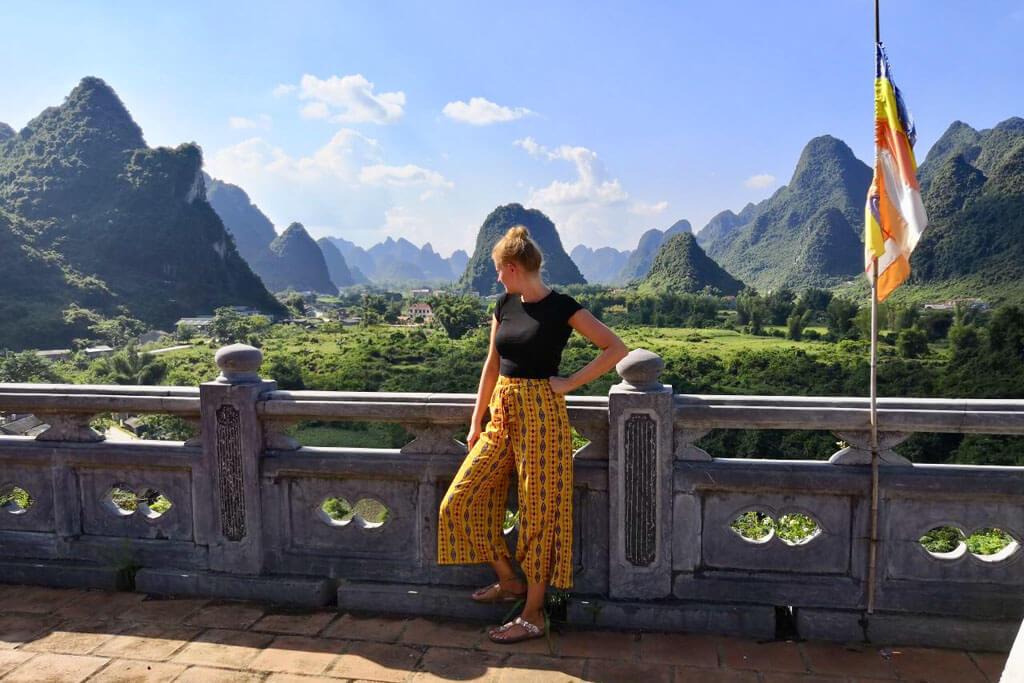 Vietnam die BanGiocWasserflle an der Grenze zu China