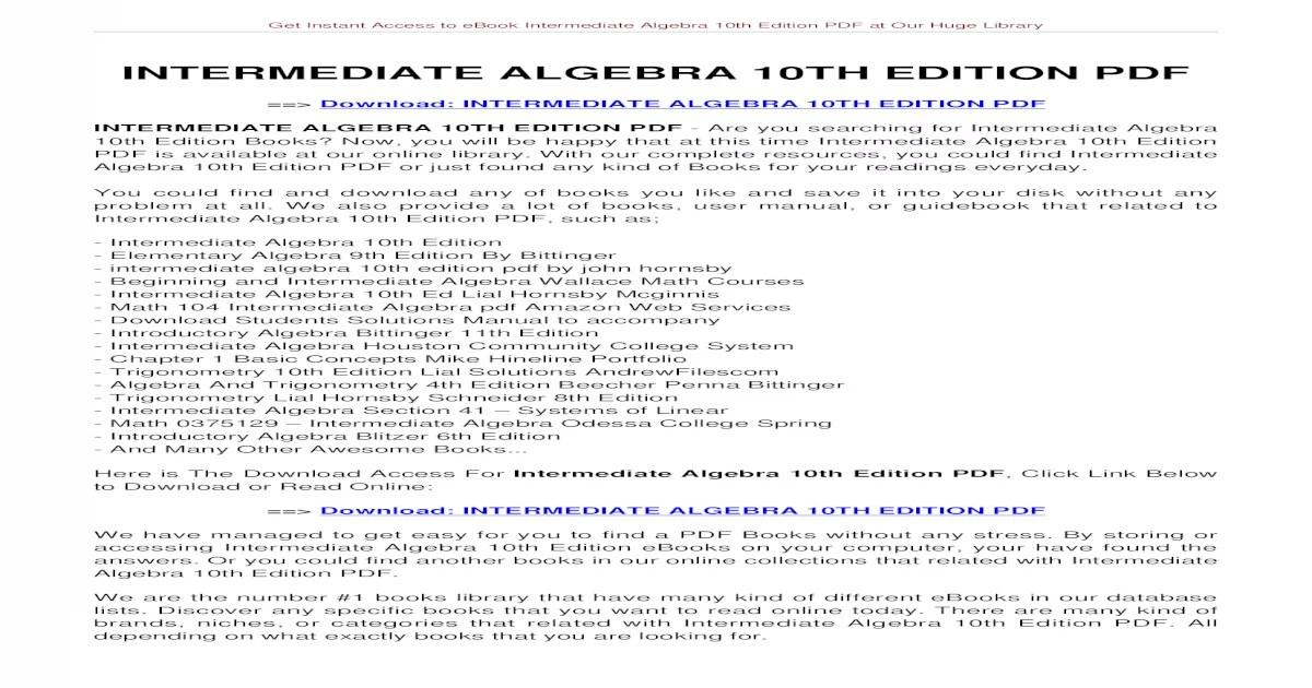 College Algebra Basics To Theory Of Equations Pdf