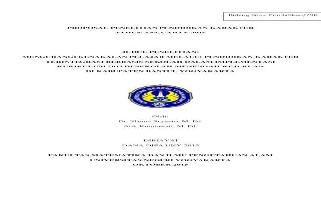 Contoh Jurnal Skripsi Pendidikan Matematika Contoh Top Cute766