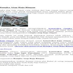 Kebutuhan Baja Ringan Untuk Kuda Konstruksi Rangka Atap Doc Document