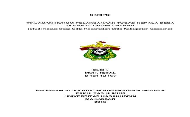 Contoh Judul Skripsi Hukum Tata Negara Kumpulan Berbagai Cute766