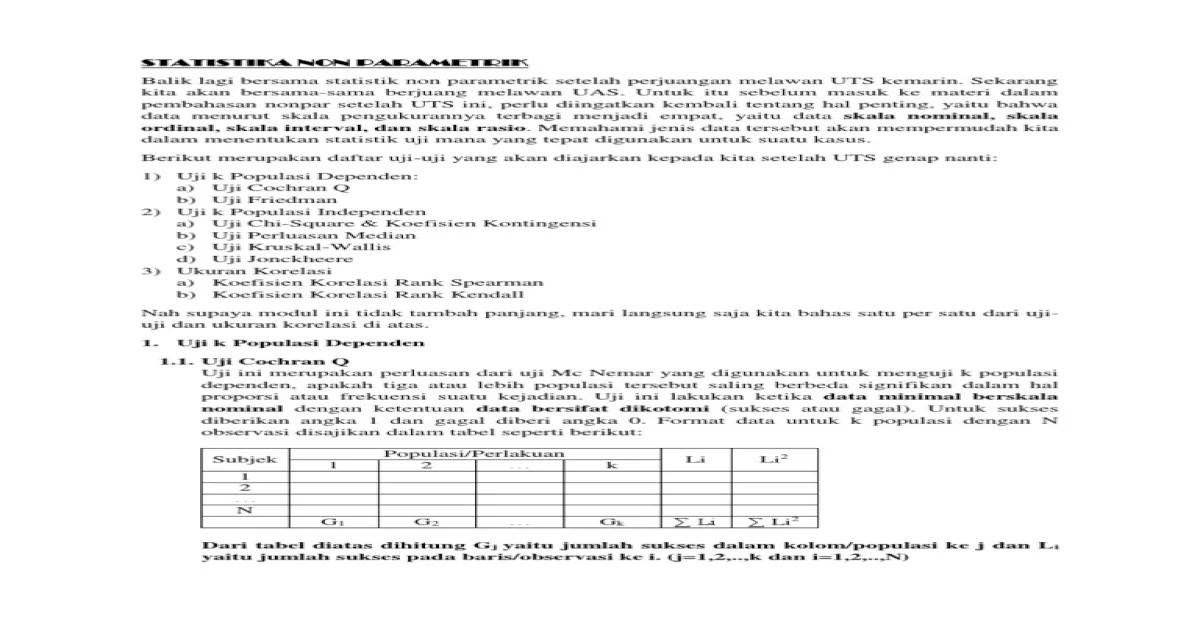 105+ contoh soal uji statistik parametrik terbaru. Contoh Soal Statistik Parametrik Dan Nonparametrik Berbagai Contoh
