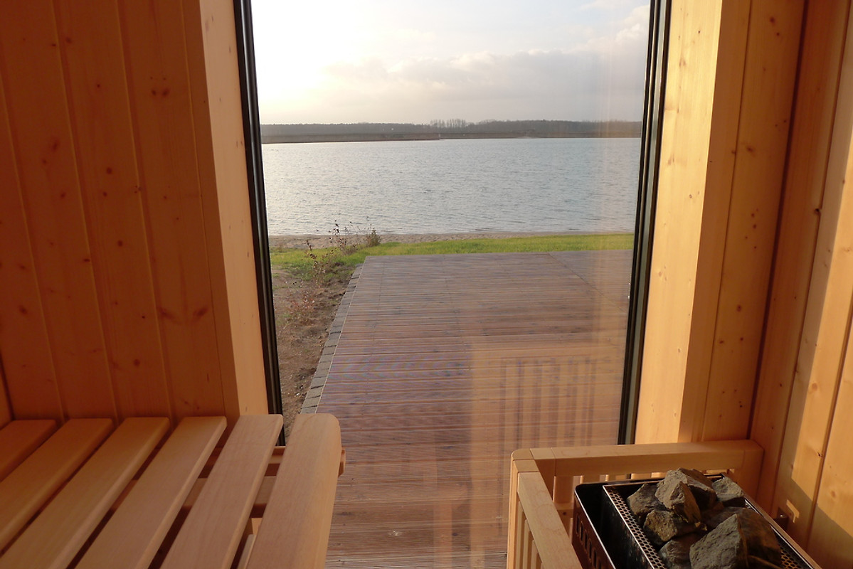 Haus am See mit Privatstrand Nordic in Lbnitz  Familie B Mahnke