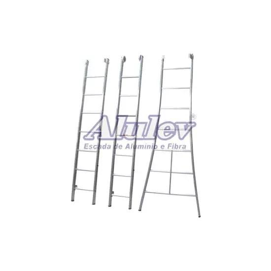 Escada de Alumínio Profissional com 3 Lances 3X10D 7,53M