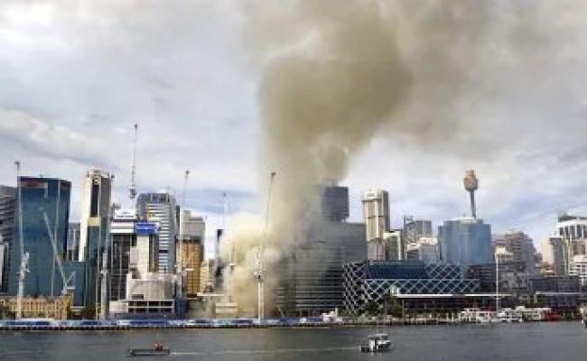 Barangaroo Fire Triggers Sydney Cbd Chaos