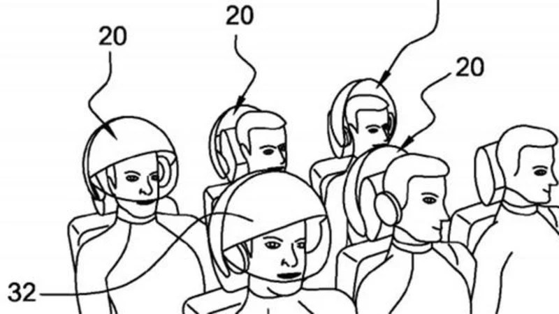 Airbus patents in-flight virtual reality helmet