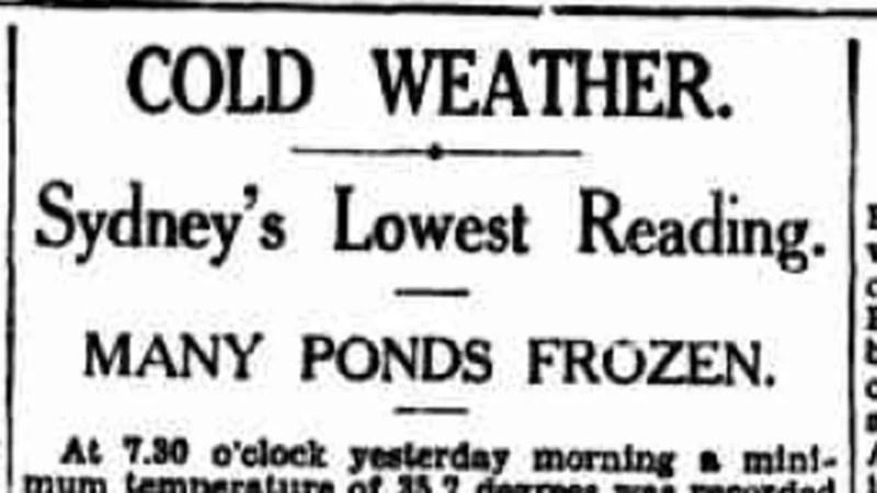 Sydney's coldest day on record saw the Botanic Gardens