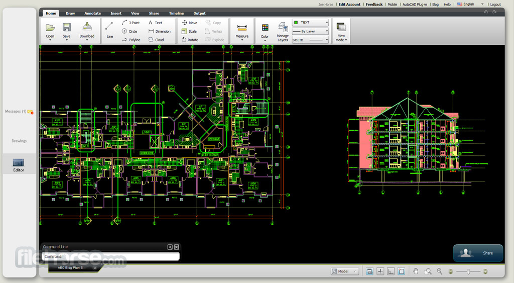 AutoCAD 360 Web View Edit And Share DWG Drawings