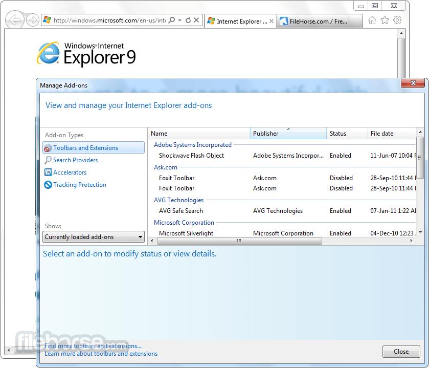internet explorer windows7 64