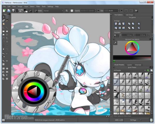 Krita Free Digital Art Software