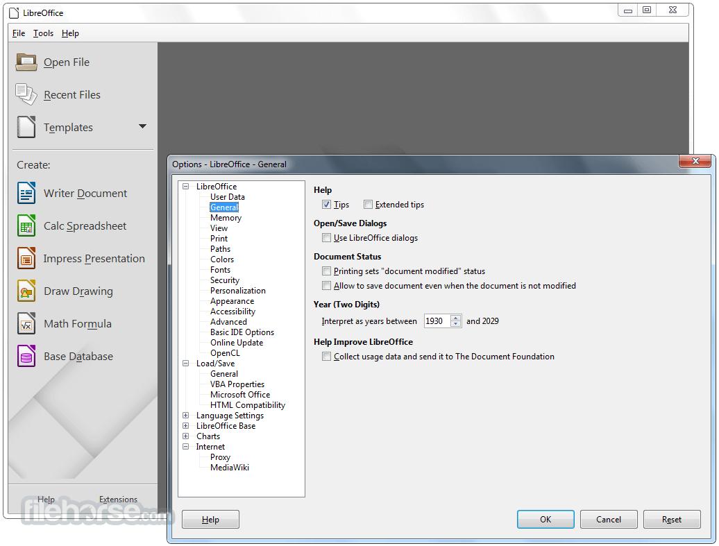 LibreOffice 6.1.0 (32-bit) Download for Windows / FileHorse.com