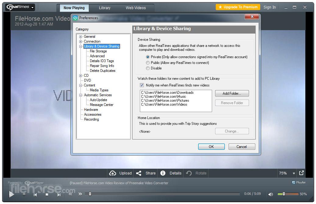 RealPlayer 1817344 Download for Windows  FileHorsecom