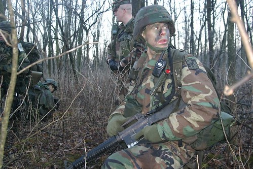 ROTC Cadet at Operation Huskie Thaw 2005.