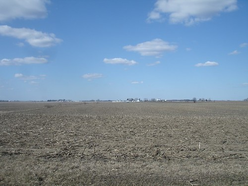 The early spring farmland of Northern Illinois.