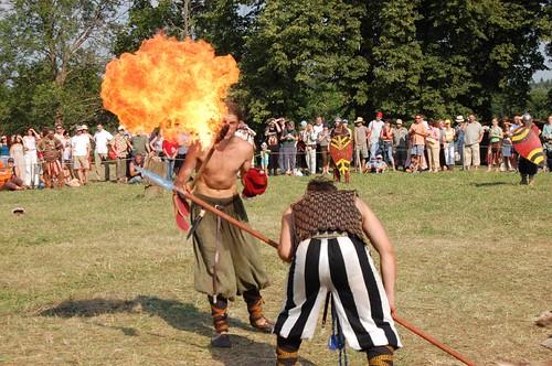 Casting a fire ball