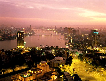 Southern Cairo along the Nile from Cairo Tower