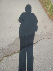 My tall shadow