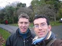 Rafe & Xesc in St Stephen's Green