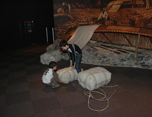 Glenbow Museum - Testing packs in fur trader exhibit